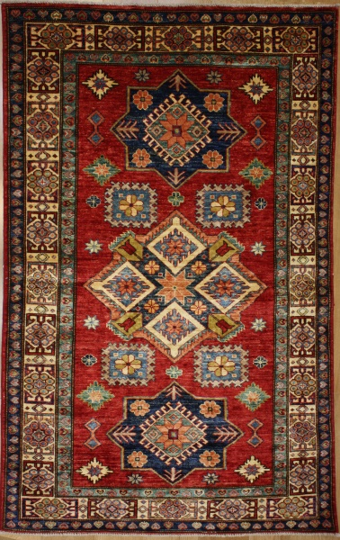 R8837 Handmade Transitional Kazak Rugs