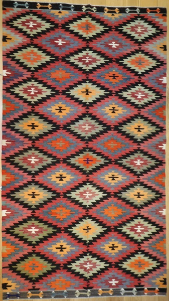 R9082 Handmade Turkish Afyon Kilim Rug