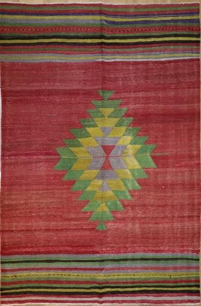 R9088 Handmade Turkish Afyon Kilim Rug