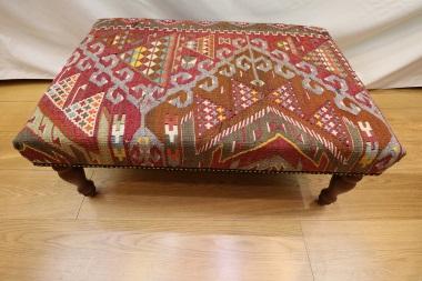 R7593 Handmade Turkish Kilim Ottoman Coffee Table