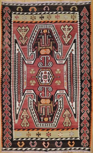 F252 Handmade Turkish Kilim Rug