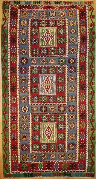 R7850 Handmade Turkish Ushak Kilim Rug