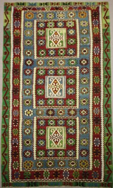 Handmade Turkish Ushak Kilim Rug R7850