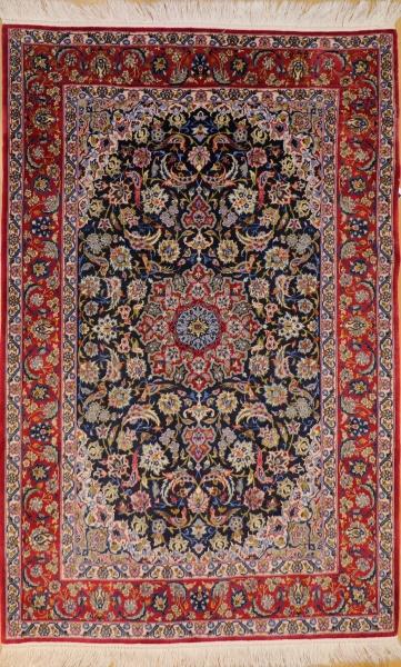 R9397 Isfahan Silk and Wool Persian Rug