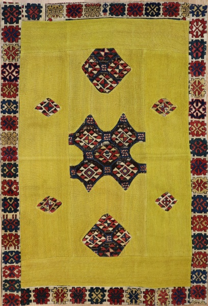 R2998 Kazak Carpet Patchwork