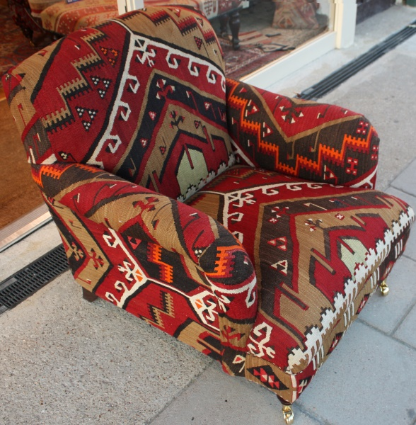 KC2 Antique Turkish Kilim Chair
