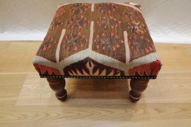 R4080 Kilim Covered Footstools