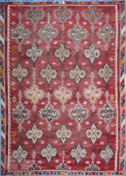 R7106 Kilim large wool rug