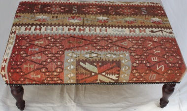 R5939 Antique Kilim Ottoman Table