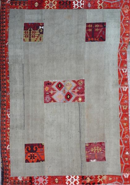 R3139 Kilim Patchwork flat weave rug