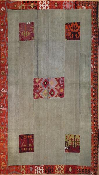 R3139 Kilim Patchwork Flatweave Rug