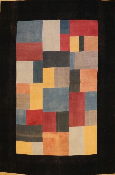 R3425 Kilim Patchwork flat weave rug