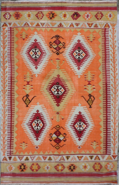 F1219 Antique Turkish Dazgiri Kilim