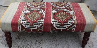 FS590B Antique Turkish Cicim Stool
