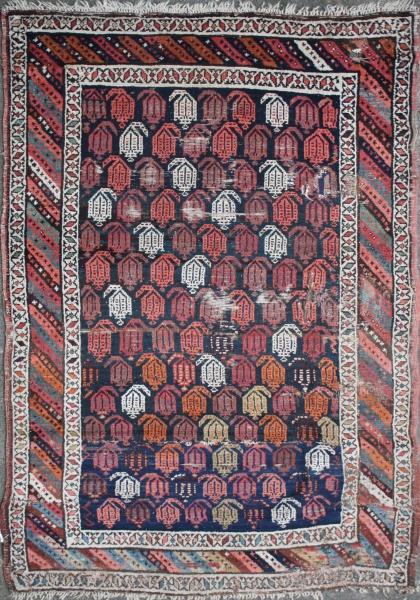 R1446 Antique Persian Kurdish Rug