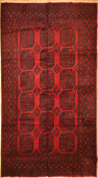 R9304 Large Afghan Red Carpet