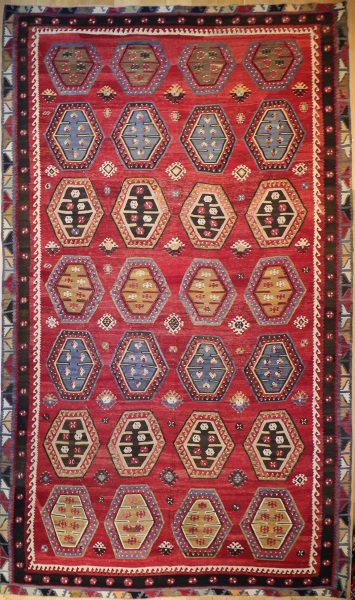 R8566 Large Antique Turkish Kilim Rugs