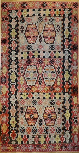 R8567 Large Antique Turkish Kilim Rugs