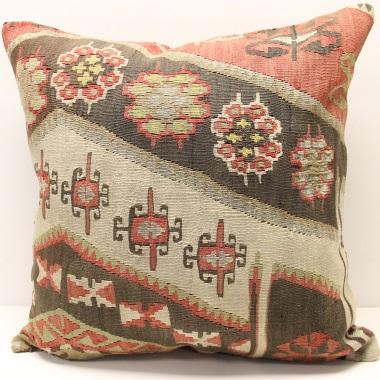 Large Orange Kilim Cushion Cover (60cm x 60cm) XL12