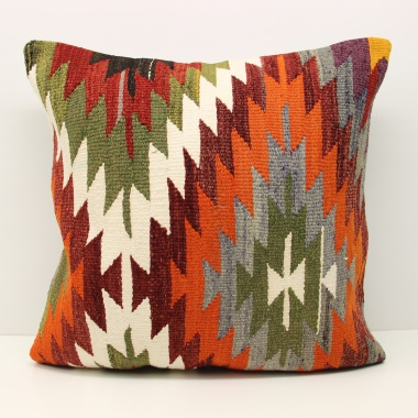 Large Orange Kilim Cushion Cover (60cm x 60cm) XL74