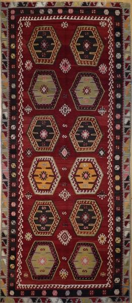 R7353 Large Sarkisla Kilim Rug