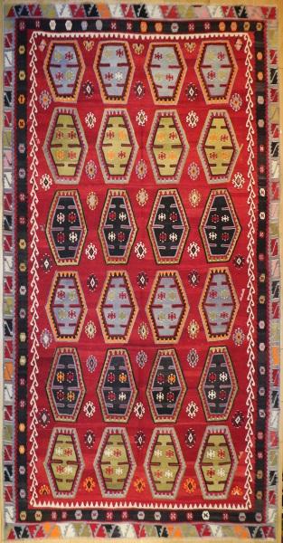 R6793 Large Sivas Turkish Kilim Rug