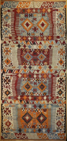 R7604 Large Turkish Afyon Kilim Rug