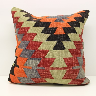Large Turkish Kilim Cushion Cover L82