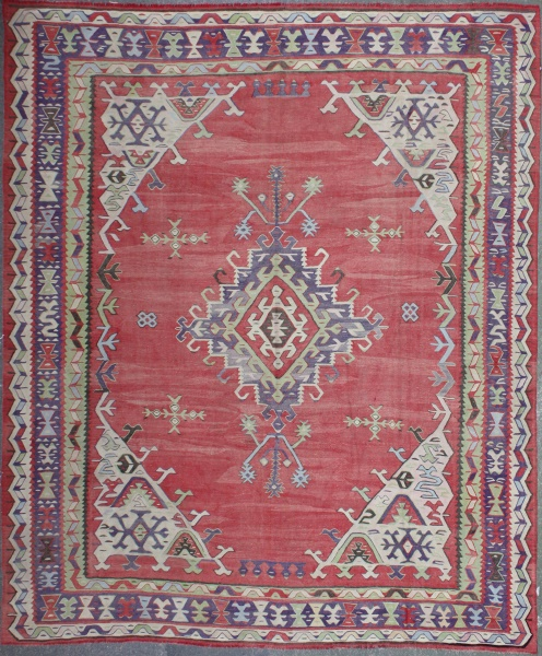 R4945 Large Ushak Kilim Rug
