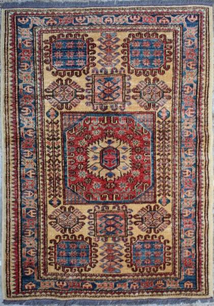 R1055 New Afghan Kazak Rug
