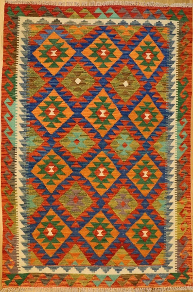 R8873 New Afghan Kilim Rugs