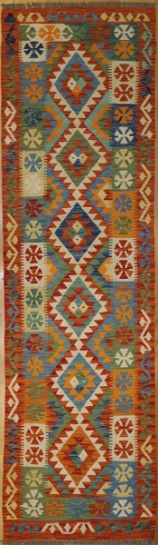 R8867 New Afghan Kilim Runners