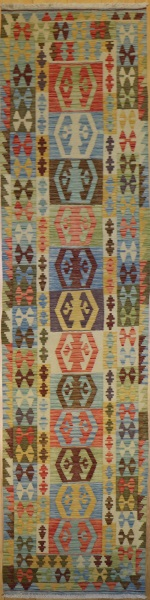 R8874 New Afghan Kilim Runners