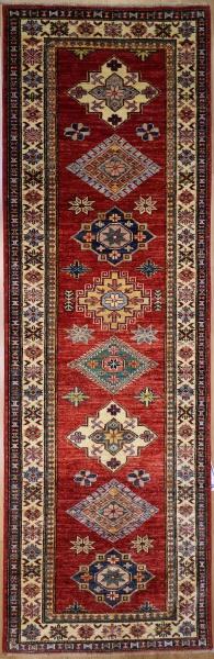 R7237 New Caucasian Kazak Carpet Runner