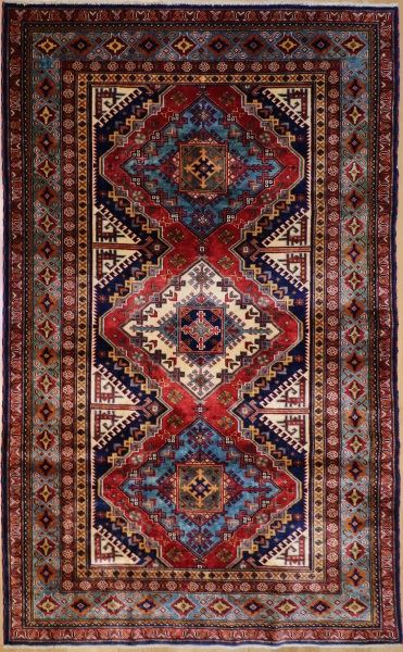 R6726 New Caucasian Shirvan Rug