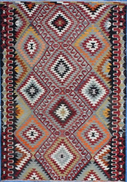 R7075 Old Turkish Kilim Rug