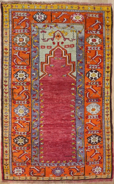F1276 Old Turkish Konya Rug