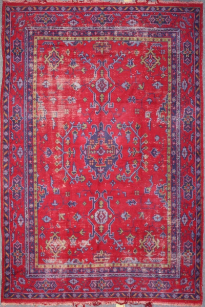 R5320 old Turkish Ushak Carpet