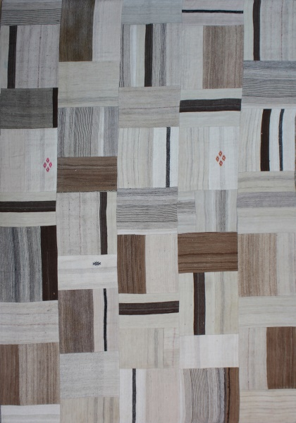 R2599 Patchwork flat weave rug