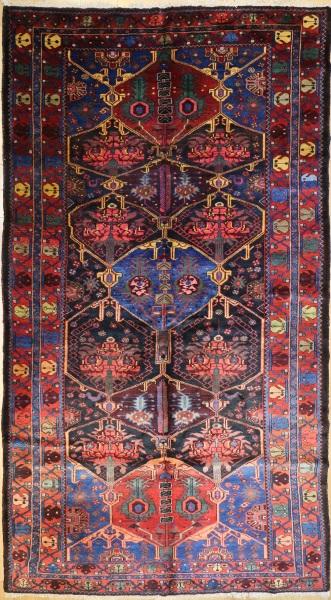 R7313 Persian Antique Bahktiari Carpet