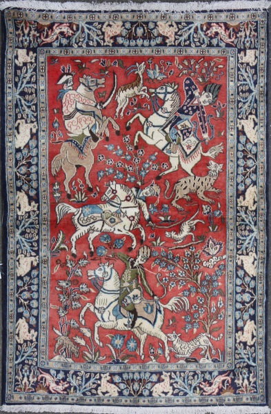 R7401 Persian Old Qum Rug