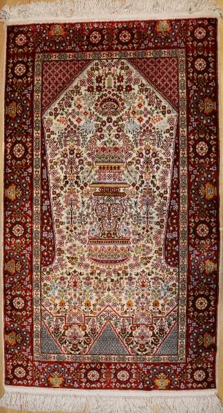 R6776 Persian Qum Silk Rug