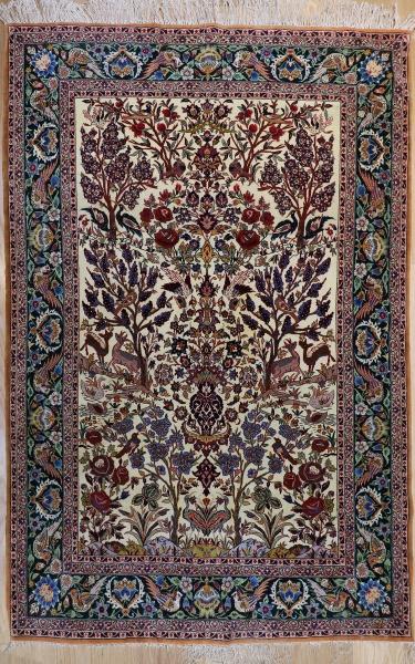 R9313 Persian Silk Qum Rug