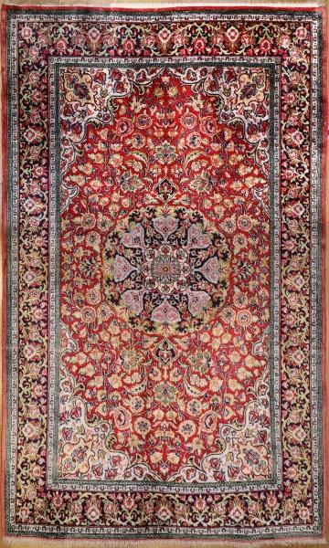 R9396 Persian Silk Qum Rug