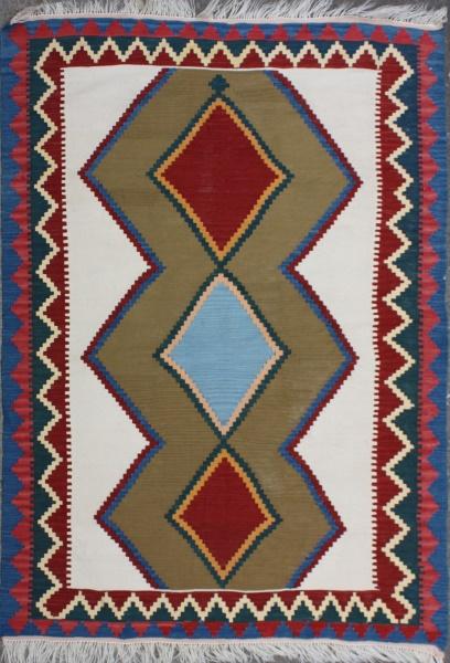 R6937 Persian Qashqai Kilim Rug