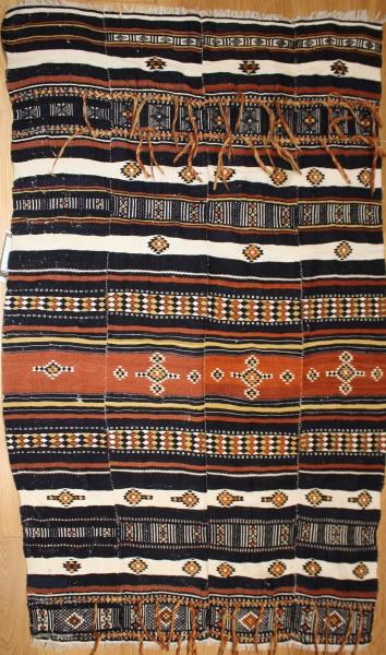 R784 Beautiful Old Morrocan Kazak Kilim Rug