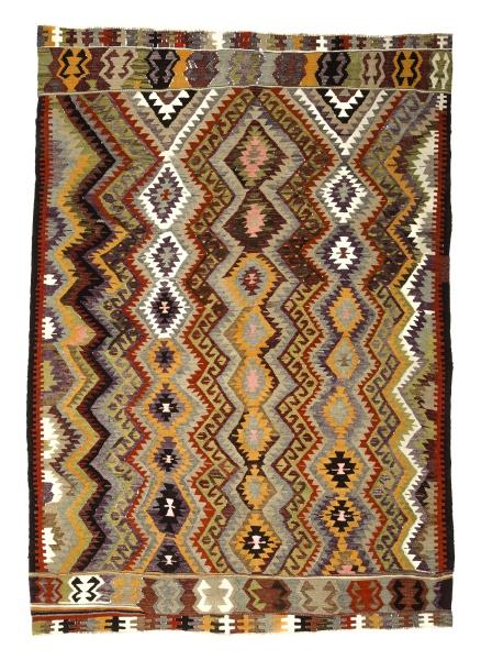 R7843 Vintage Turkish Antalya Kilim Rug