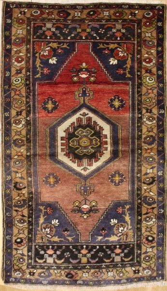 R8781 Gorgeous Vintage Turkish Yahyali Rugs