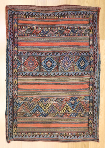 R9012 Persian Shahsavan Kilim Floor Cushion Covers