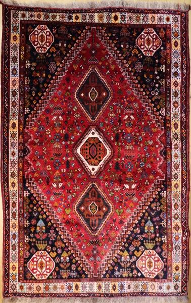 R9376 Antique Persian Qashqai Carpet